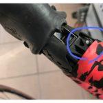 ロードバイクのシフトケーブル交換!ほつれて切れたワイヤー!